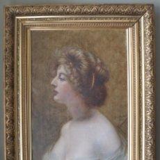 Arte: MAGNÍFICO RETRATO PINTURA CALIDAD MUSEO, OLEO BELLE EPOQUE, SIGLO XIX, FREDERICK SCHELL (1838-1905). Lote 147179394