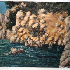 Arte: OLEO SOBRE TELA FIRMADO G.ESTEBAN. MARINA. ATRIBUIBLE A ESTEBAN GRUBWALD ALSGE.. Lote 147184026