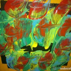 Arte: OLEO SOBRE MADERA .VENTOLERA. 33 X 33 CM. FIRMADO: TORAIDO ALGAÑO . Lote 147187318