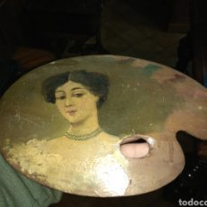 Arte: ÓLEO SOBRE PALETA DE PINTOR - FIRMADO GUERRERO 1901 -. Lote 147234390
