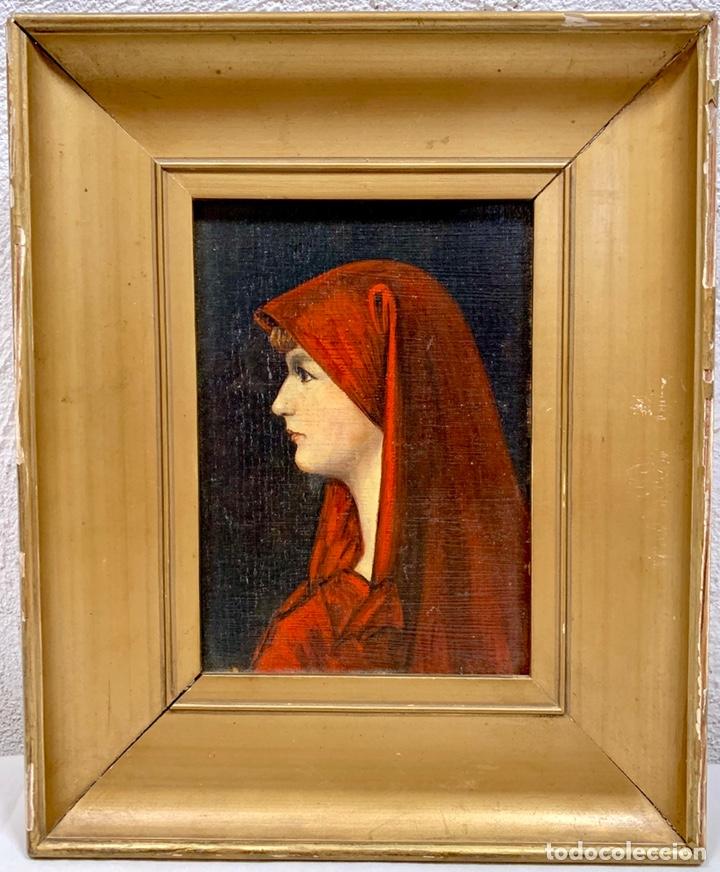 OLEO SOBRE TABLA FABIOLA DE JEAN-JACQUES HENNER, FIRMADO Y DEDICADO, FRANCIA P. S. XX (Kunst - Malerei - Moderne Ölgemälde 19. Jahrhundert)