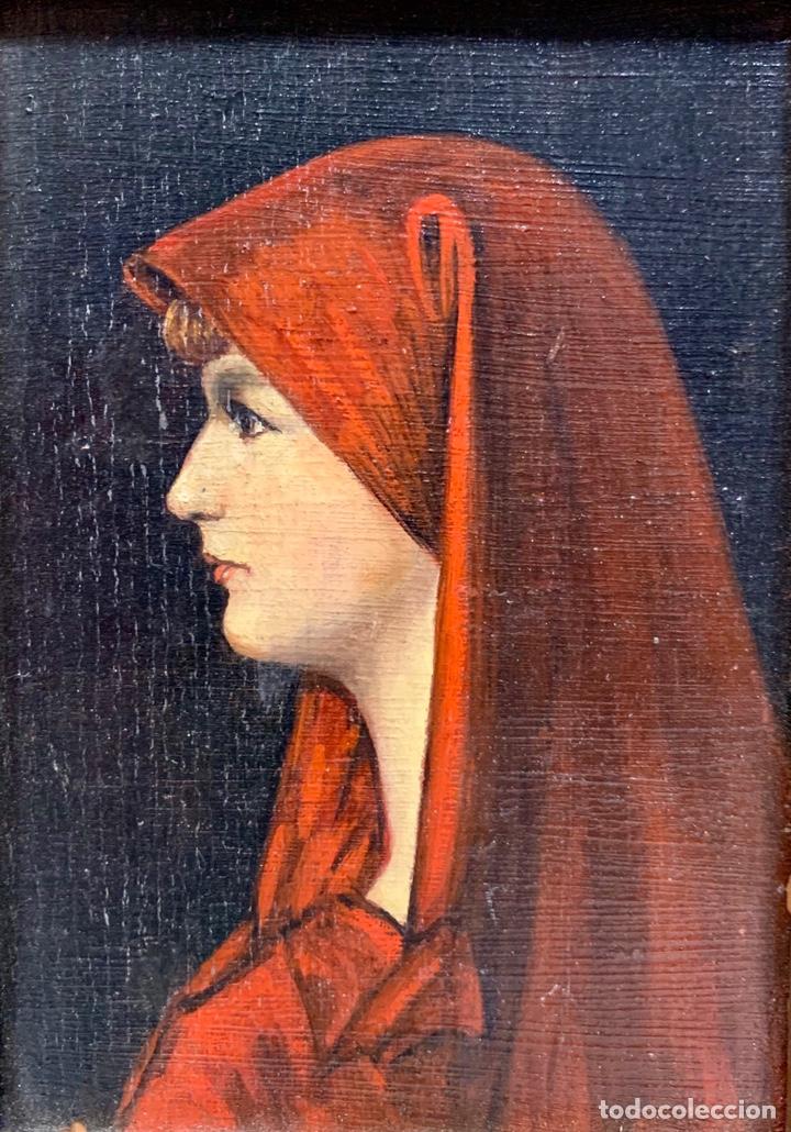 Kunst: Oleo sobre tabla Fabiola de Jean-Jacques Henner, firmado y dedicado, Francia p. s. XX - Foto 2 - 147282244