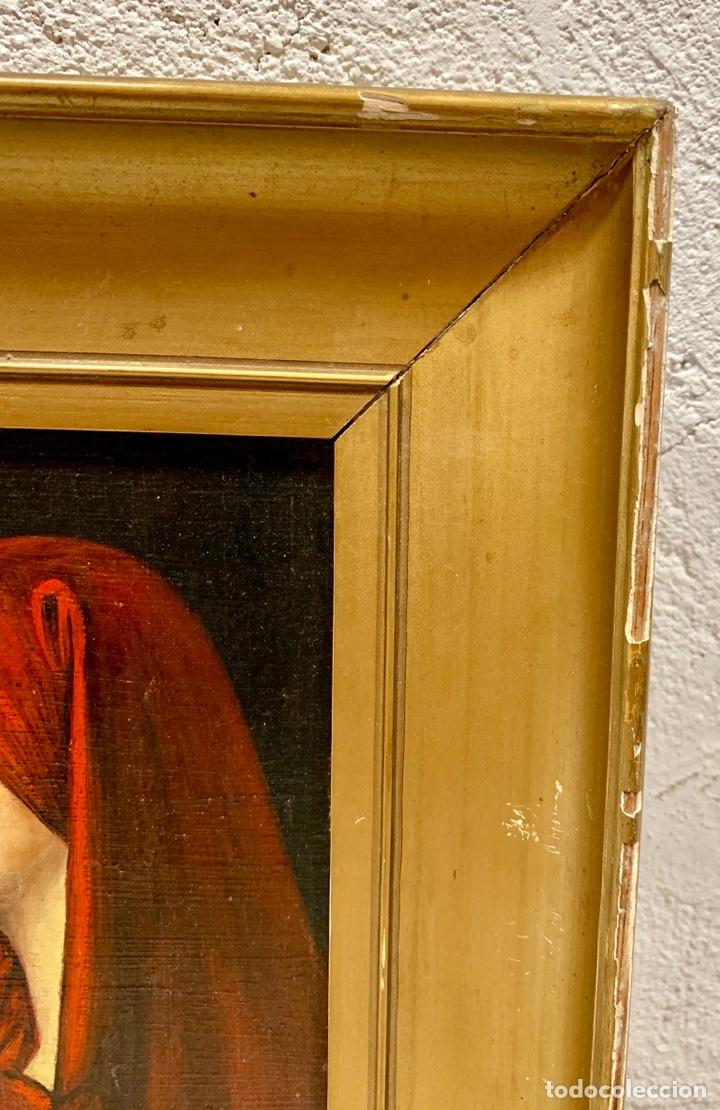 Kunst: Oleo sobre tabla Fabiola de Jean-Jacques Henner, firmado y dedicado, Francia p. s. XX - Foto 3 - 147282244