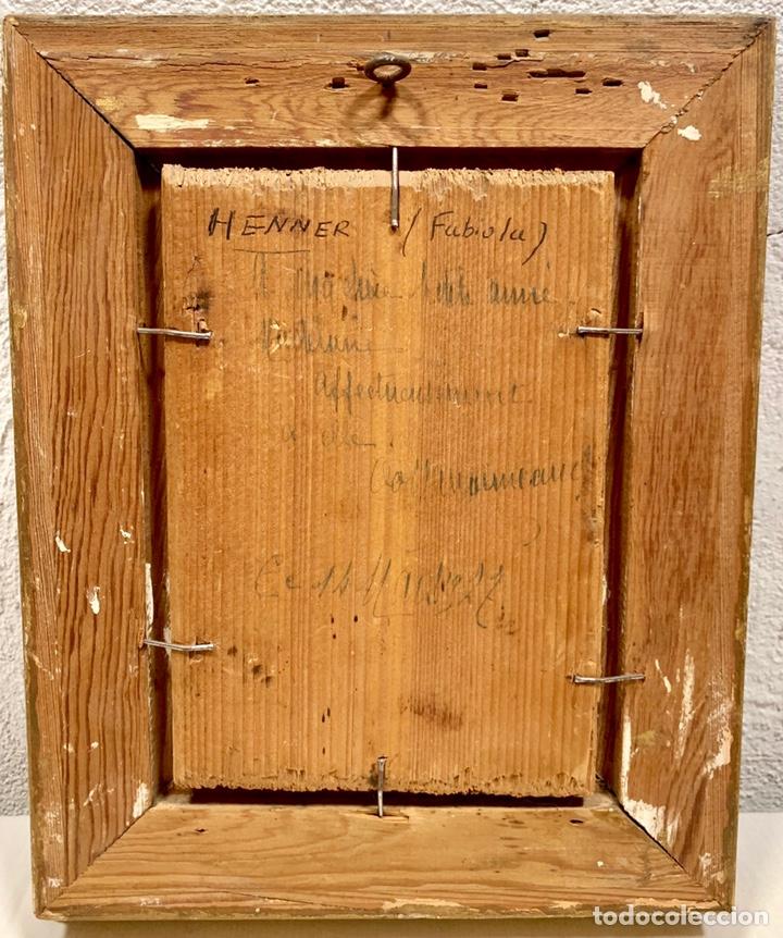 Kunst: Oleo sobre tabla Fabiola de Jean-Jacques Henner, firmado y dedicado, Francia p. s. XX - Foto 4 - 147282244