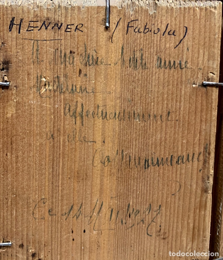 Kunst: Oleo sobre tabla Fabiola de Jean-Jacques Henner, firmado y dedicado, Francia p. s. XX - Foto 5 - 147282244