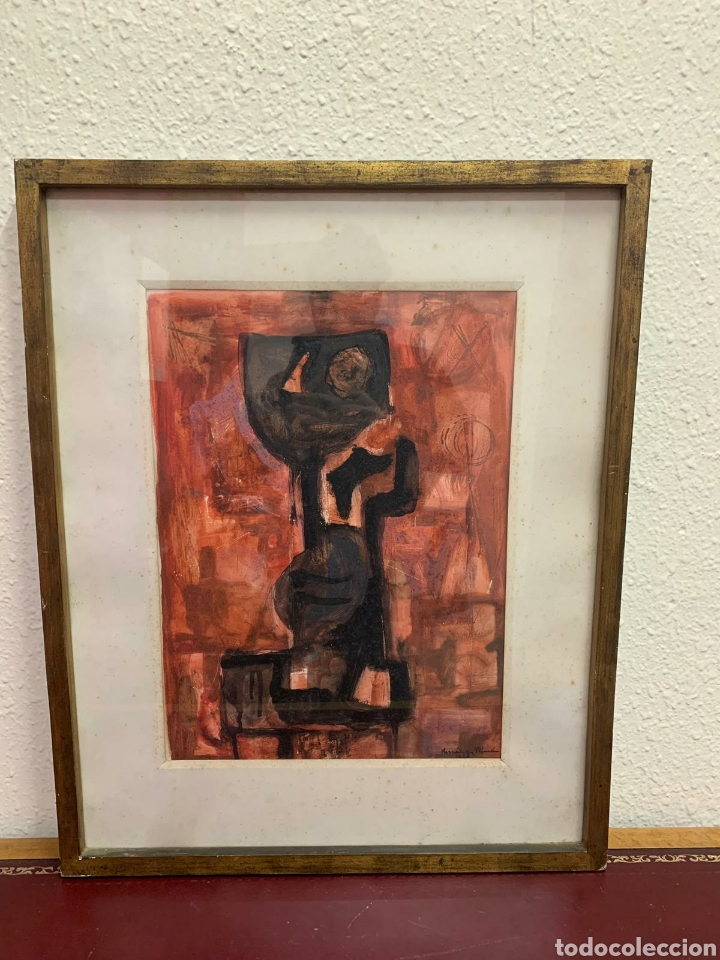 PINTURA FIRMADA. JOAN HERNÁNDEZ PIJOAN AÑO 1958 (Art - Painting - Contemporary Painting)