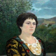 Arte: E. MARTINELL. OLEO SOBRE TELA FECHADO DEL AÑO 1915. RETRATO FEMENINO. Lote 147308502
