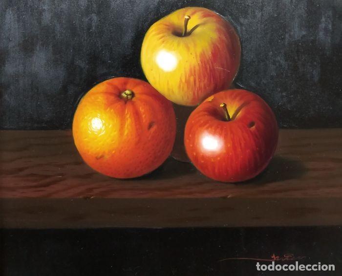 Art: ESPECTACULAR Escuela Española S.XVIII - Bodegón frutal - Firmado (SALIDA 1€) - Foto 3 - 147331310