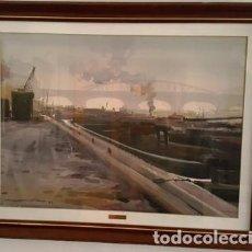 Arte: CUADRO - ACUARELA - PARIS - SENA - JOSEP MARFA GUARRO - BARCELONA - AA-1 AÑO 1987-. Lote 147343930