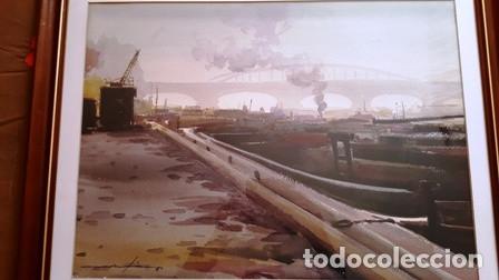 Arte: CUADRO - ACUARELA - PARIS - SENA - JOSEP MARFA GUARRO - BARCELONA - AA-1 AÑO 1987- - Foto 2 - 147343930