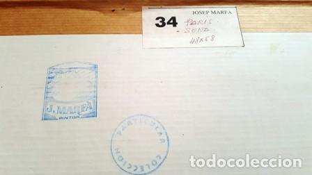Arte: CUADRO - ACUARELA - PARIS - SENA - JOSEP MARFA GUARRO - BARCELONA - AA-1 AÑO 1987- - Foto 4 - 147343930