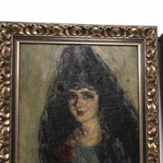 Kunst - magnifica dama con mantilla - 147392542