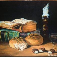Arte: MAGNÍFICO BODEGON OLEO ANTIGUO OLEO SOBRE LIENZO FIRMADO C.MAYOR (SALIDA 1€). Lote 147403946