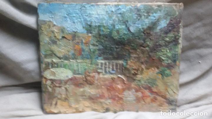 EN LA TERRAZA(OBRA EN RELIEVE) OBRA DE CHRISTIANERMO (Arte - Pintura - Pintura al Óleo Contemporánea )