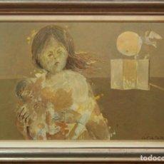 Arte: ÓLEO SOBRE TABLA ENMARCADO DE JUAN GUTIÉRREZ MONTIEL. FIRMADO.. Lote 147425054