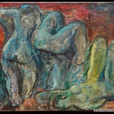 Arte: TONI RIERA. ÓLEO SOBRE LIENZO. FIRMADO. . Lote 147428738