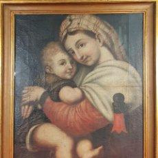 Arte: MATERNIDAD. ÓLEO SOBRE LIENZO. ESCUELA ITALIANA. SIGLO XVII-XVIII. . Lote 147454818