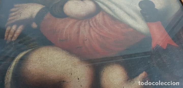 Arte: MATERNIDAD. ÓLEO SOBRE LIENZO. ESCUELA ITALIANA. SIGLO XVII-XVIII. - Foto 3 - 147454818