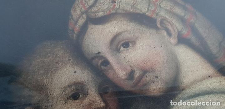 Arte: MATERNIDAD. ÓLEO SOBRE LIENZO. ESCUELA ITALIANA. SIGLO XVII-XVIII. - Foto 4 - 147454818