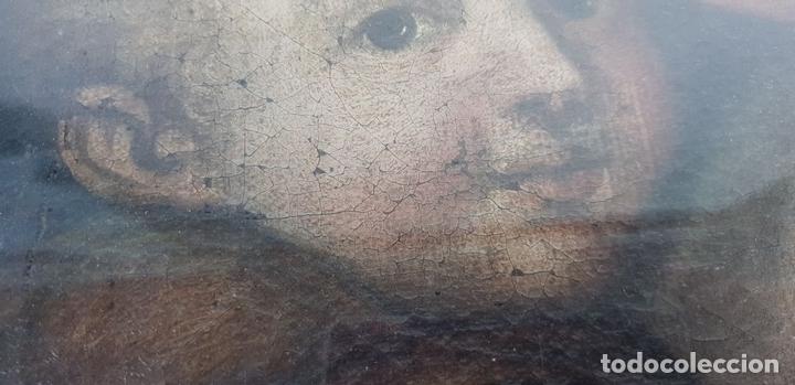Arte: MATERNIDAD. ÓLEO SOBRE LIENZO. ESCUELA ITALIANA. SIGLO XVII-XVIII. - Foto 6 - 147454818