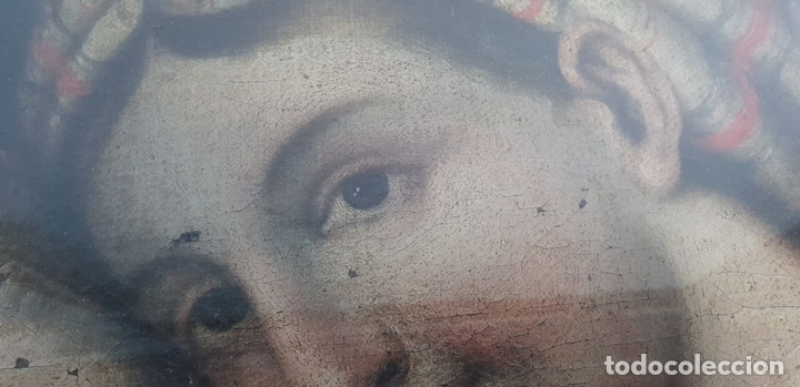 Arte: MATERNIDAD. ÓLEO SOBRE LIENZO. ESCUELA ITALIANA. SIGLO XVII-XVIII. - Foto 10 - 147454818