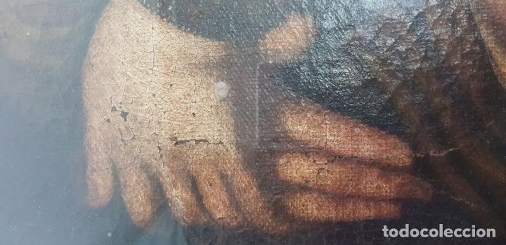 Arte: MATERNIDAD. ÓLEO SOBRE LIENZO. ESCUELA ITALIANA. SIGLO XVII-XVIII. - Foto 12 - 147454818