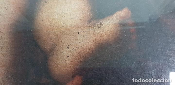 Arte: MATERNIDAD. ÓLEO SOBRE LIENZO. ESCUELA ITALIANA. SIGLO XVII-XVIII. - Foto 14 - 147454818