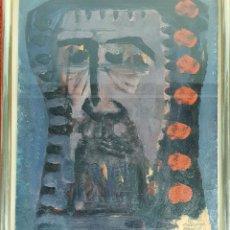 Arte: RETRATO ABSTRACTO. ÓLEO SOBRE PAPEL. CARDONA TORRANDELL. 1956.. Lote 147460422