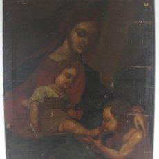 Arte: A-270. OLEO SOBRE LIENZO, VIRGEN CON EL NIÑO. S.XVIII.. Lote 147468894