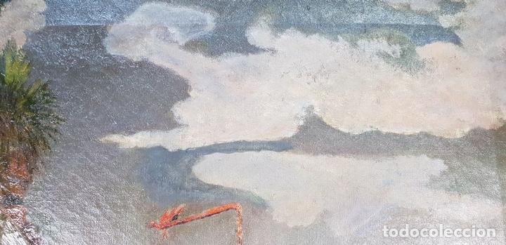 Arte: PAISAJE DE BALCÓN. ÓLEO SOBRE LIENZO. FIRMADO J. RIERA. SIGLO XX. - Foto 3 - 147477242