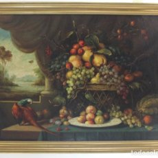 Arte: A- 272. OLEO SOBRE LIENZO, BODEGON DE FRUTAS. S.XIX. GRANDES DIMENSIONES. SIN FIRMA.PRINCIPIOS S.XX. Lote 147481390