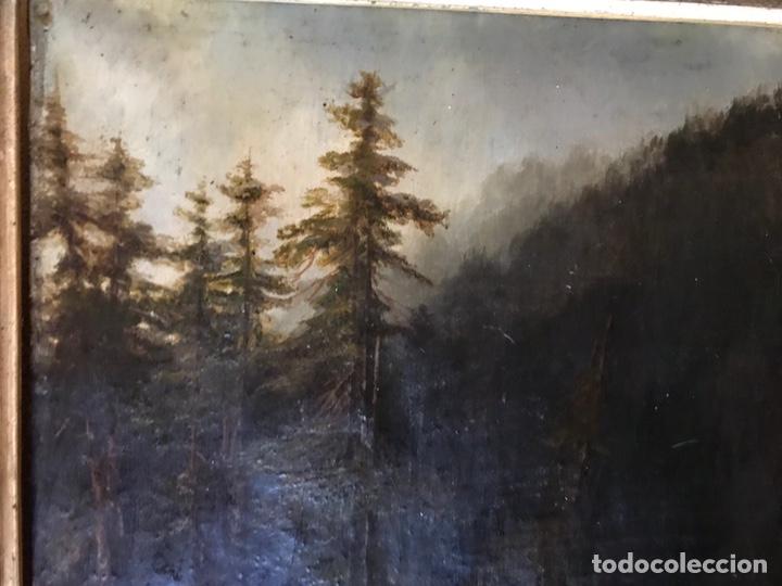 """Arte: Gustave Courbet, oil on canvas. """" paysage de Montaigne avec chaumiere""""27x42 cm. Signed G. Courbet - Foto 3 - 147504810"""