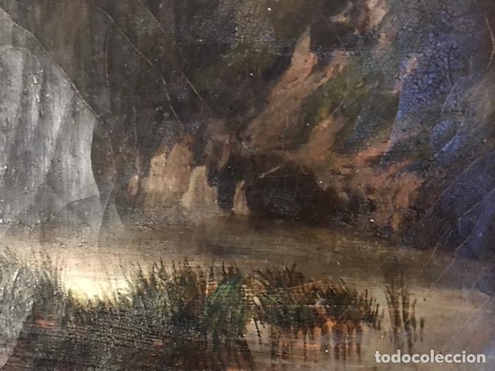 """Arte: Gustave Courbet, oil on canvas. """" paysage de Montaigne avec chaumiere""""27x42 cm. Signed G. Courbet - Foto 7 - 147504810"""