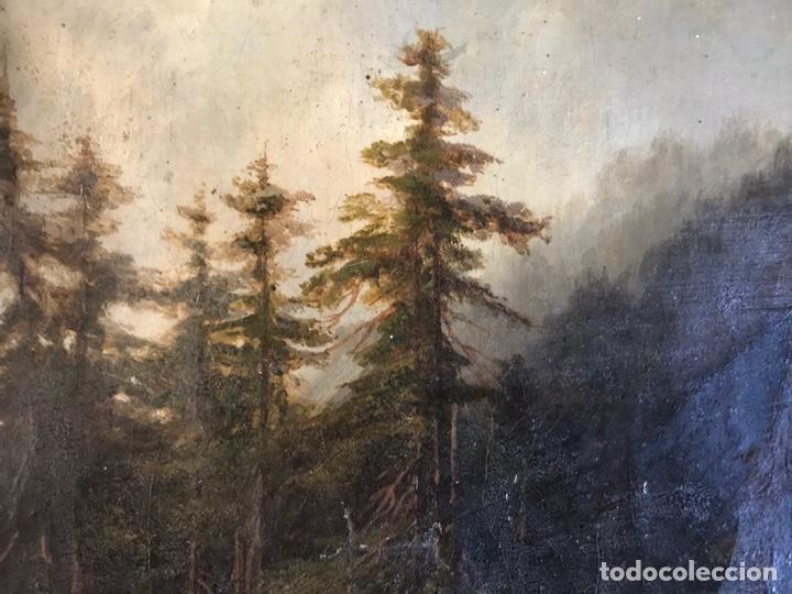 """Arte: Gustave Courbet, oil on canvas. """" paysage de Montaigne avec chaumiere""""27x42 cm. Signed G. Courbet - Foto 8 - 147504810"""