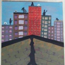 Arte: ANTONI MARTÍ (SEUDONIMO. CASSERRES, 1.960) - OLEO SOBRE PAPEL - 30 X 25 - CERTIFICADO. Lote 147507198