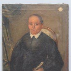 Arte: RETRATO DE MUJER CON ABANICO. OLEO S/ LIENZO. ESCUELA ESPAÑOLA. SIGLO XIX. Lote 147527358