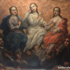 Arte: PINTURA COLONIAL MEJICANA. SANTÍSIMA TRINIDAD. SAN JUAN NEPOMUCENO. ATRIBUIDA A JOSÉ DE PÁEZ. XVII.. Lote 147546134
