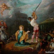 Arte: SIMON DE VOS. OLEO SOBRE PLANCHA DE COBRE. PINTURA FLAMENCA. FLANDES. CIRCA 1637. FIRMADO Y FECHADO.. Lote 147650850