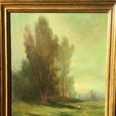 Arte: ESPECTACULAR OBRA DE UNO DE LA FUNDADORES DE LA ESCUELA OLOTINA JOSEP BERGA BOIX (GERONA1873-1914). Lote 147651210