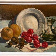 Arte: MANUEL CARNICER FAJÓ(1921-1998) ÓLEO CON NATURALEZA MUERTA DEL DIBUJANTE Y PINTOR. Lote 147660246