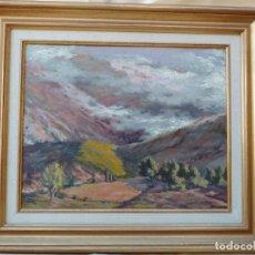 Arte: JUAN BAUTISTA PORCAR, PAISAJE, OLEO SOBRE TABLA. Lote 147660438