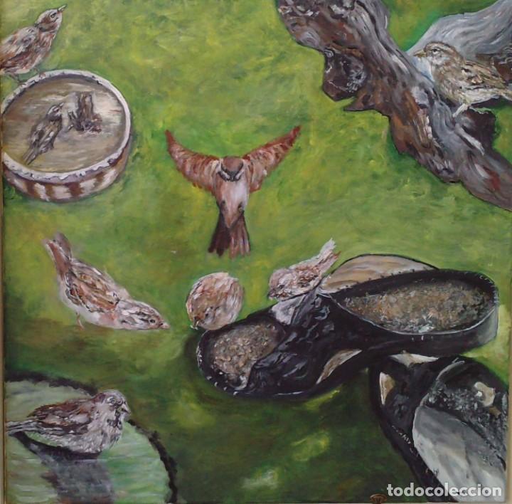 GORRIONES (Arte - Pintura - Pintura al Óleo Contemporánea )