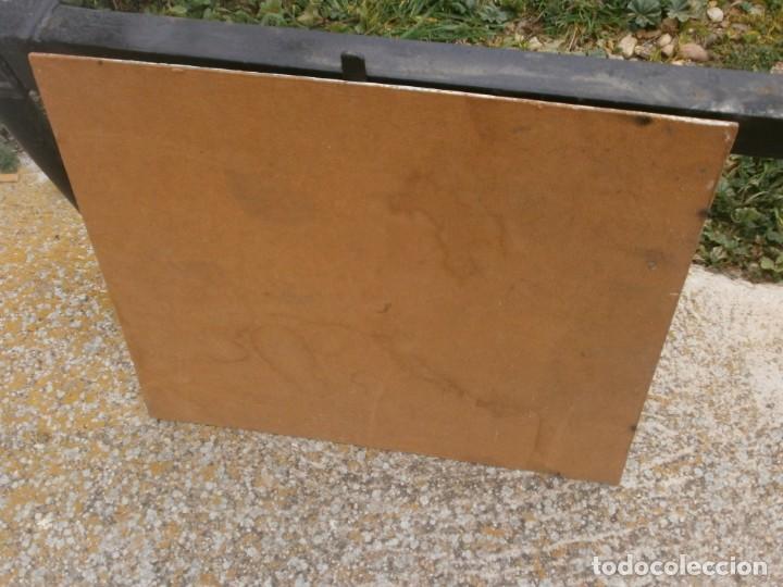 Arte: Paisaje pueblo personajes oleo sobre tablex firmado Norberto medida 46 X 38 cm. buena pintura - Foto 4 - 147708826