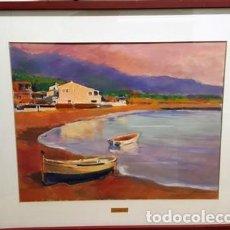 Arte: CUADRO - ACUARELA - LLANÇA - SAN CARLOS - DE JOSEP MARFA GUARRO - BARCELONA -. Lote 147721906