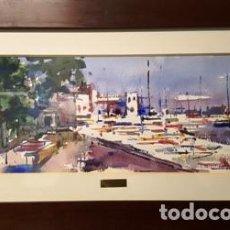 Arte: CUADRO - ACUARELA - PORT - DE JOSEP MARFA GUARRO - BARCELONA -. Lote 147722350