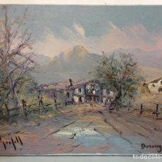 Arte: CASERÍO VASCO DURANGUESADO - ANDRÉS GRIFFEL - ÓLEO SOBRE LIENZO. Lote 147727774