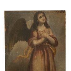 Arte: MARAVILLOSO ANGEL , SIGLO XVIII, LIENZO SOBRE TABLA.. Lote 147733538