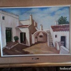Arte: PINTOR M CORRAL SANSUGUET CASERÍO DE TORRET. Lote 147734878