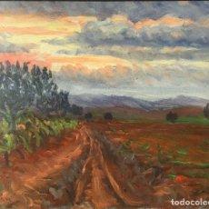 Arte: ÓLEO CON PAISAJE DE TRINITAT TORNÉ PUJOL (BARCELONA 1879-1945). Lote 147734990