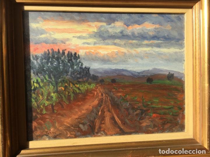 Arte: Óleo con paisaje de TRINITAT TORNÉ PUJOL (Barcelona 1879-1945) - Foto 4 - 147734990